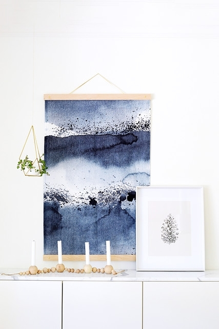 Diy To Try: Statement Making Fabric Wall Hanging – Do It Yourself Throughout Simple Fabric Wall Art (View 11 of 15)