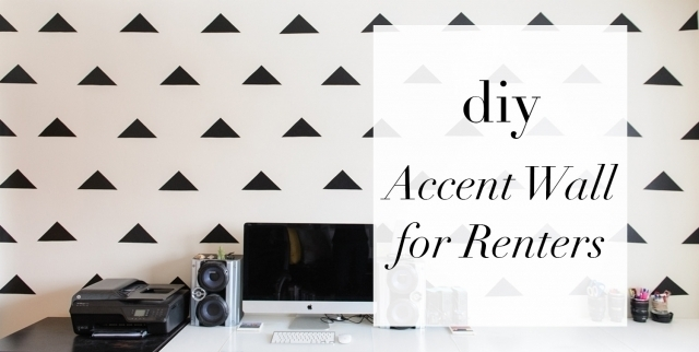 Diy Wall Accent Pic How To Create A Striped Accent Wall Without Regarding Wall Accents Without Paint (Image 7 of 15)