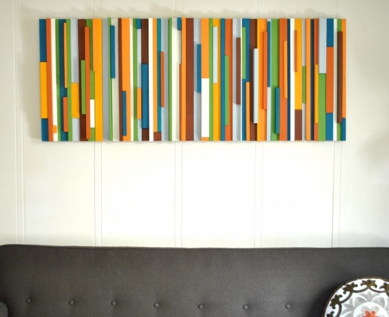 Diy Wall Decor Wood : Original Diy Wall Decor With Fabric Intended For Fabric Scrap Wall Art (Image 5 of 15)