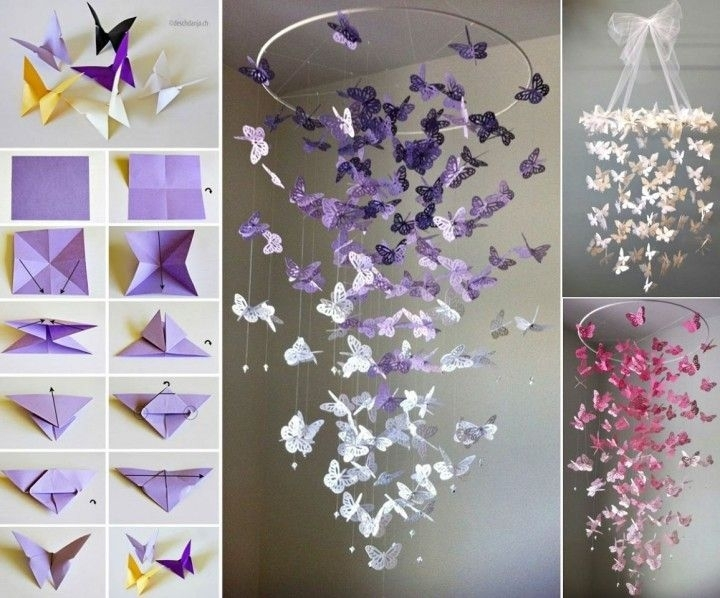 Diy Wall Decorations Of Worthy Diy Butterfly Wall Art Pictures Regarding Diy Wall Accents (View 3 of 15)