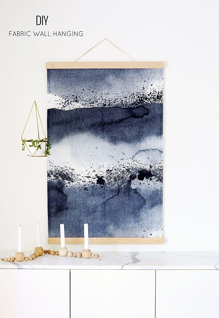Featured Image of Blue Fabric Wall Art