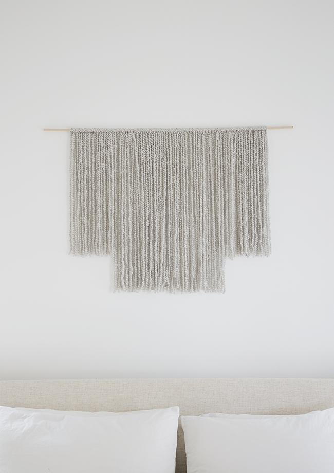 Diy Woven Wall Hanging – Almost Makes Perfect Intended For Woven Fabric Wall Art (Image 5 of 15)