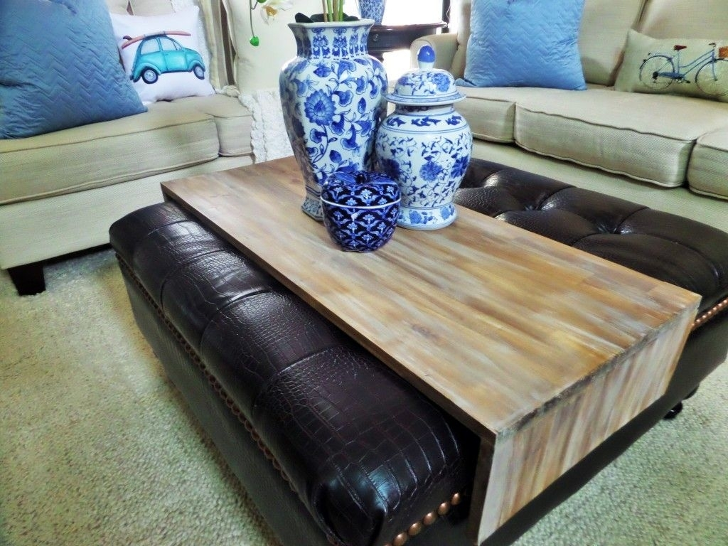 Diy Wrap Around Ottoman Tray | Home Decor | Pinterest | Ottomans With Ottomans With Tray (Image 4 of 10)