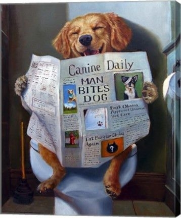 Dog Gone Funny Animal Canvas Wall Art Printjulie Heffernan Throughout Dogs Canvas Wall Art (View 9 of 15)