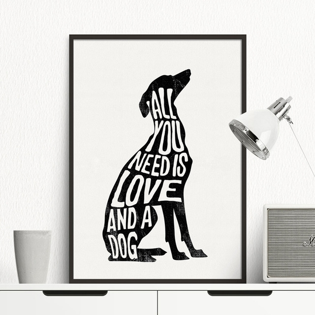 Dog Minimalist Poster Italian Greyhound Nordic Wall Art Print Throughout Dogs Canvas Wall Art (Image 6 of 15)