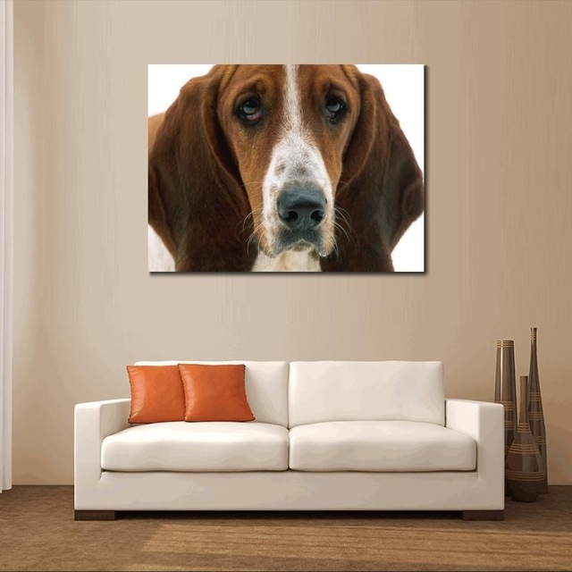Dogs Canvas Prints Animals Home Decor Modern Animal Wall Art Within Dogs Canvas Wall Art (Image 8 of 15)