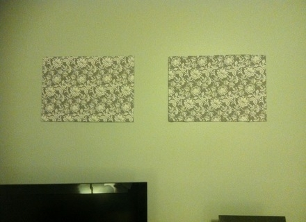 Domestic Divas In Training: Foam Board Fabric Wall Art – Super Tech Inside Foam Board Fabric Wall Art (Image 4 of 15)