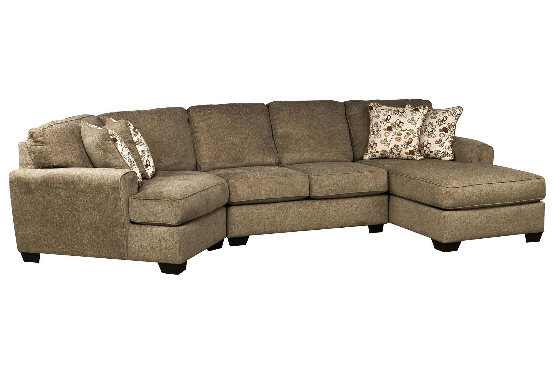 Don't Love The Color, But The Shape Is Great! | Patola Park 3 Piece Pertaining To Sectional Sofas With Cuddler Chaise (Image 2 of 10)