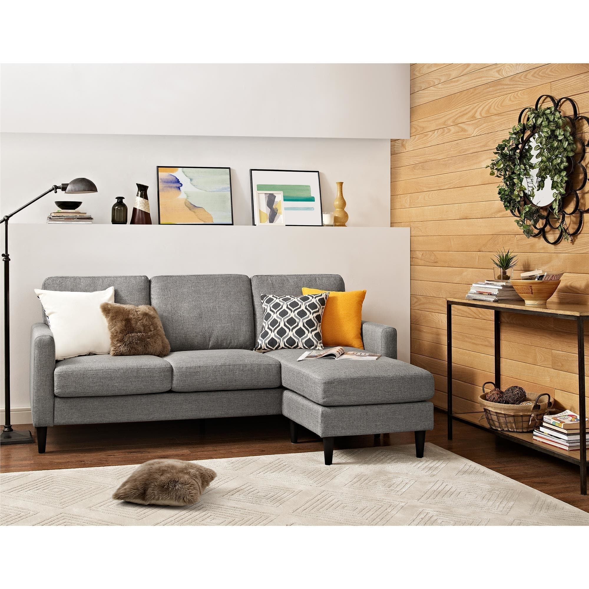 Dorel Living Kaci Grey Sectional Sofa – Free Shipping On Orders Over Throughout Overstock Sectional Sofas (View 2 of 10)