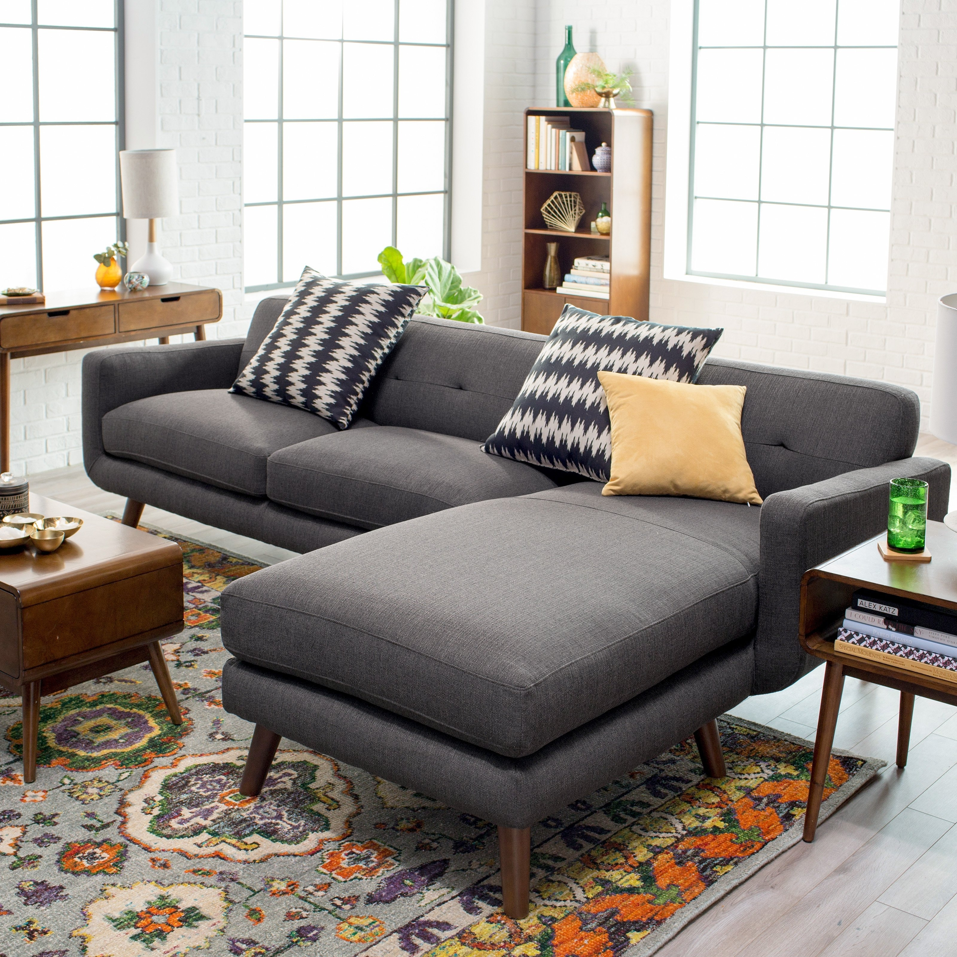 Dorel Living Small Spaces Configurable Sectional Sofa | Hayneedle With Regard To Sectional Sofas (Image 4 of 10)