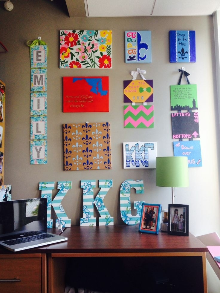 Dorm Wall Décor: Steps For Making Beautiful Room — Cakegirlkc Intended For Canvas Wall Art For Dorm Rooms (Image 8 of 15)