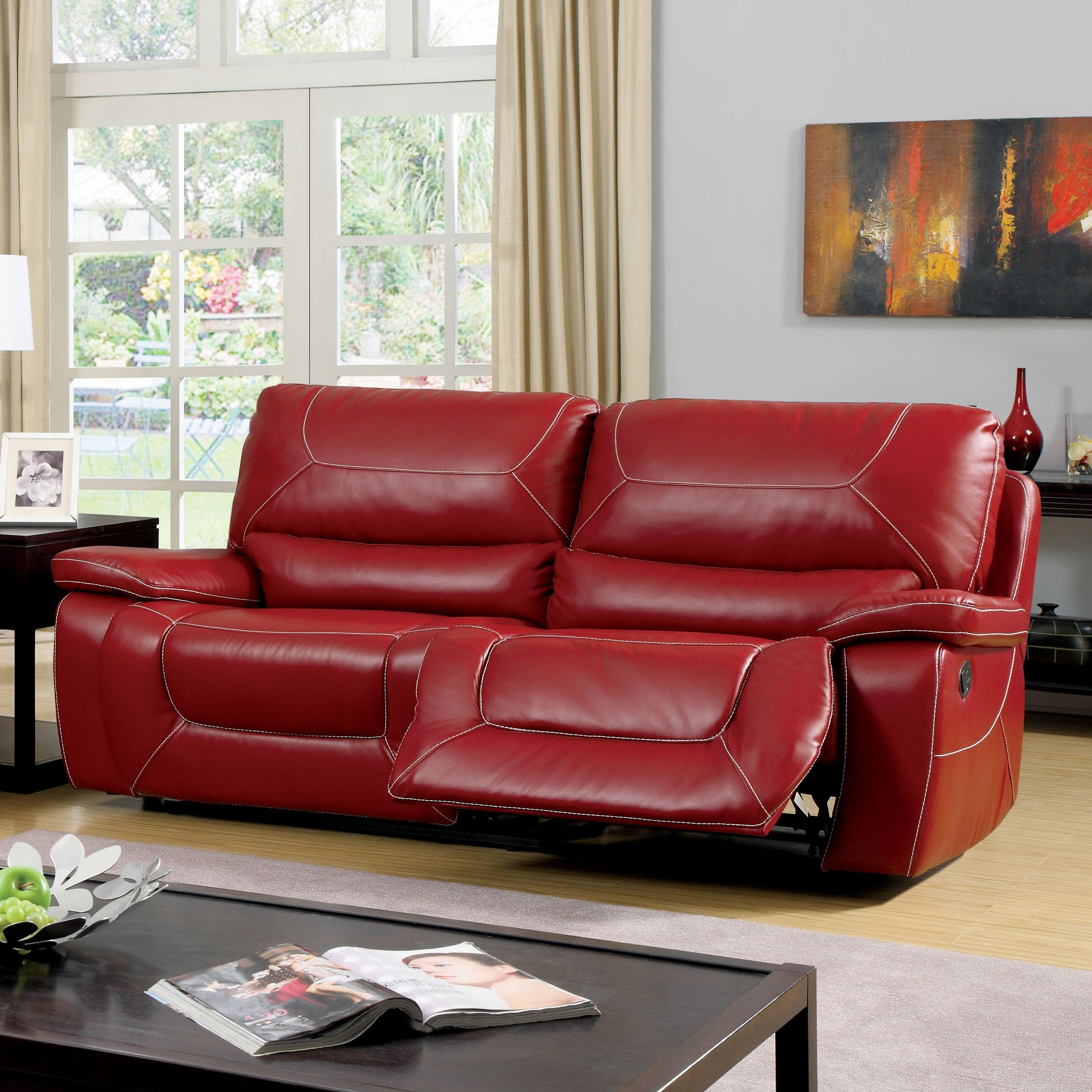 Dormont Reclining Sofa | Reclining Sofa, Living Rooms And Room Pertaining To Red Leather Reclining Sofas And Loveseats (Image 1 of 10)