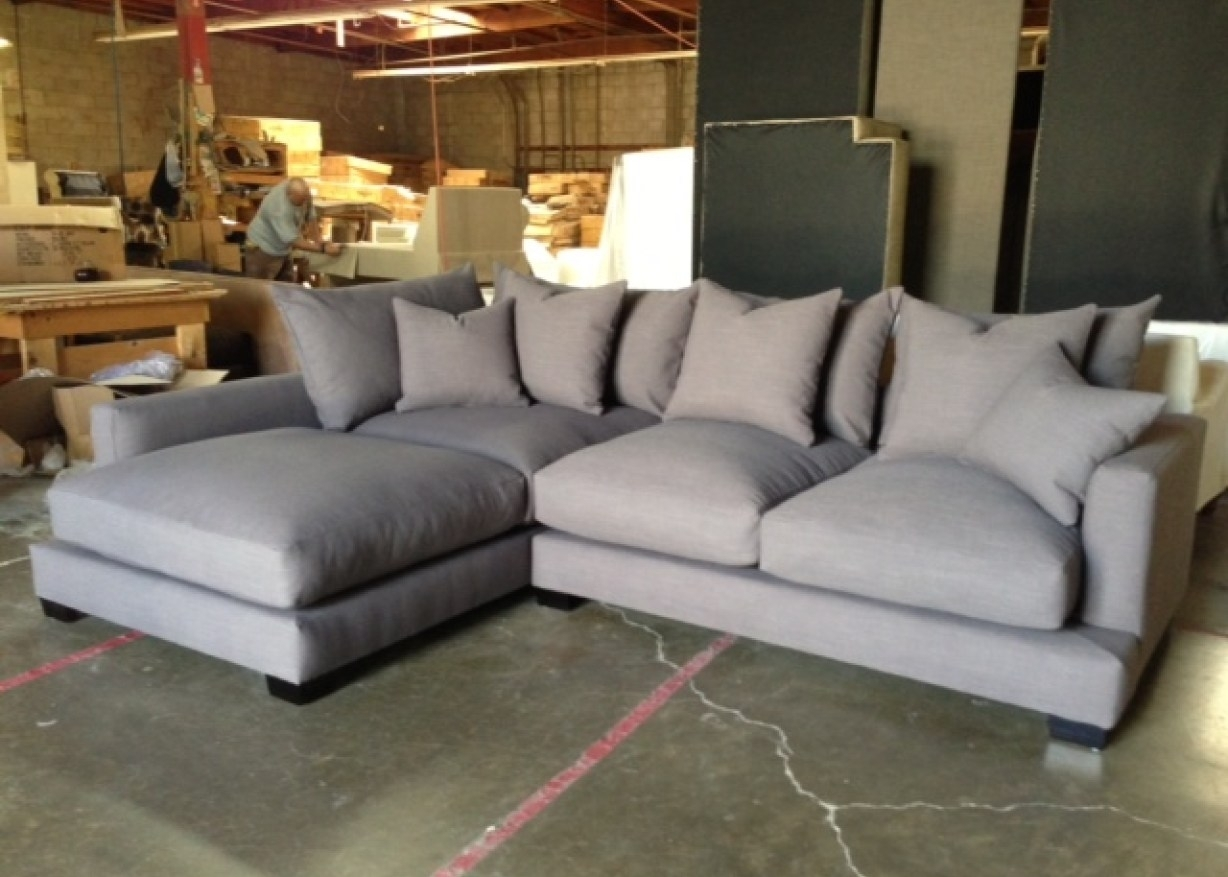 Down Filled Sectional Sofa And Best Reclining Brands With Leather Intended For Down Feather Sectional Sofas (Image 4 of 10)