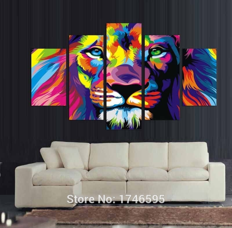 Download Colorful Wall Decor | Himalayantrexplorers With Abstract Lion Wall Art (View 2 of 15)