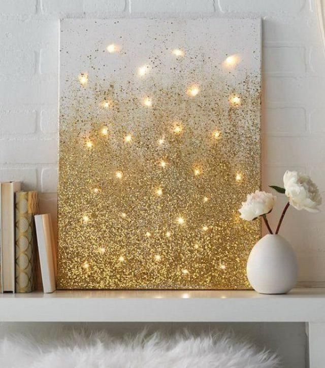 Download Glitter Wall Art | Himalayantrexplorers Intended For Glitter Canvas Wall Art (Image 5 of 15)