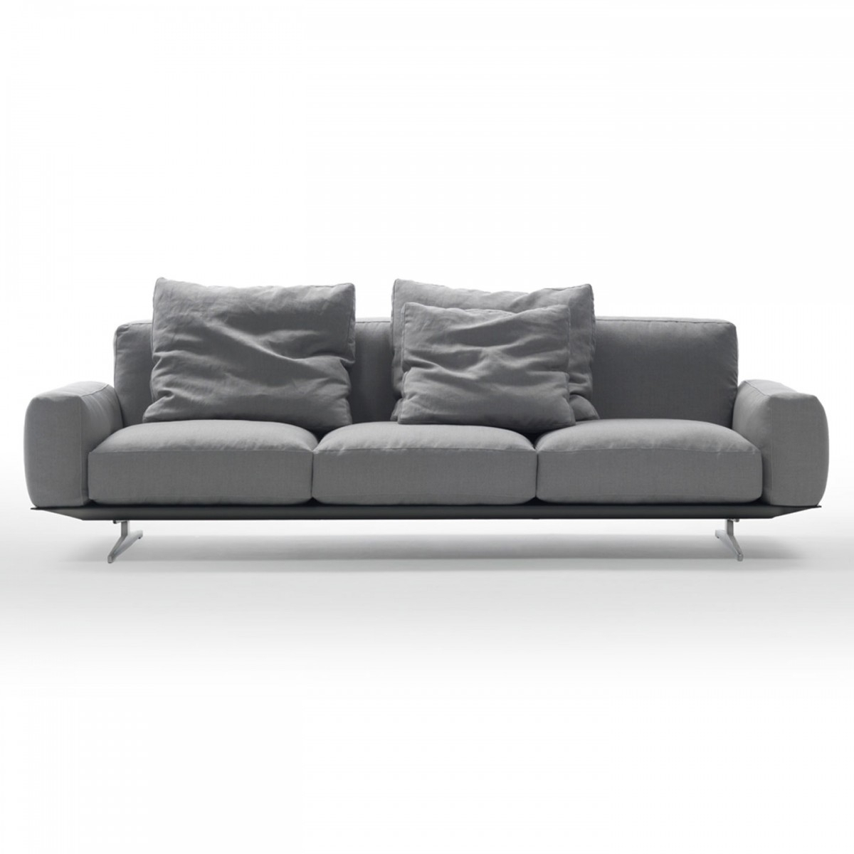 Dream Low Arm 233Cm Sofa Throughout Low Sofas (Image 1 of 10)