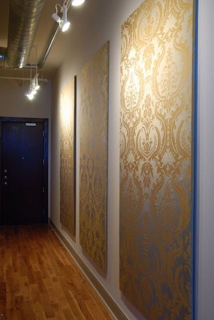 Dress Up Your Walls With Pretty Fabric Panels | Insulation Board Within Foam Board Fabric Wall Art (View 6 of 15)