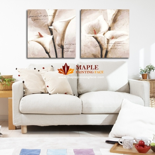 Drop Shipping Hot Canvas Painting Flower Wall Pictures For Living Pertaining To Canvas Wall Art Of Flowers (Image 6 of 15)