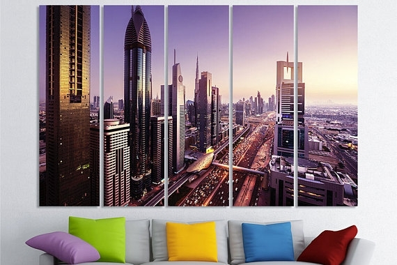 Dubai Art United Arab Emirates Dubai Wall Art Dubai Canvas Art Within Dubai Canvas Wall Art (Image 11 of 15)