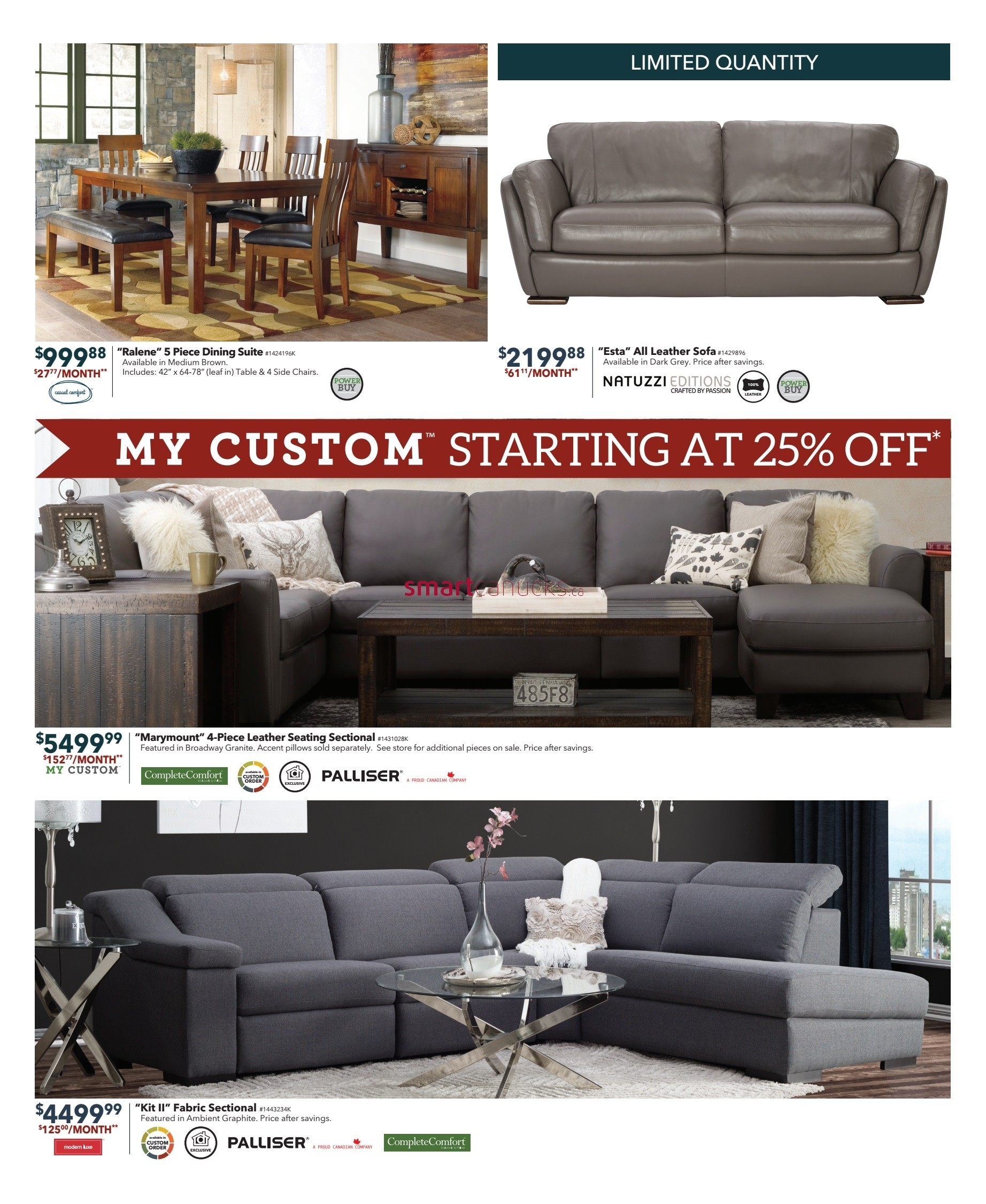 Dufresne (Winnipeg & Ottawa) Flyer December 1 To 11 Pertaining To Dufresne Sectional Sofas (Image 1 of 10)