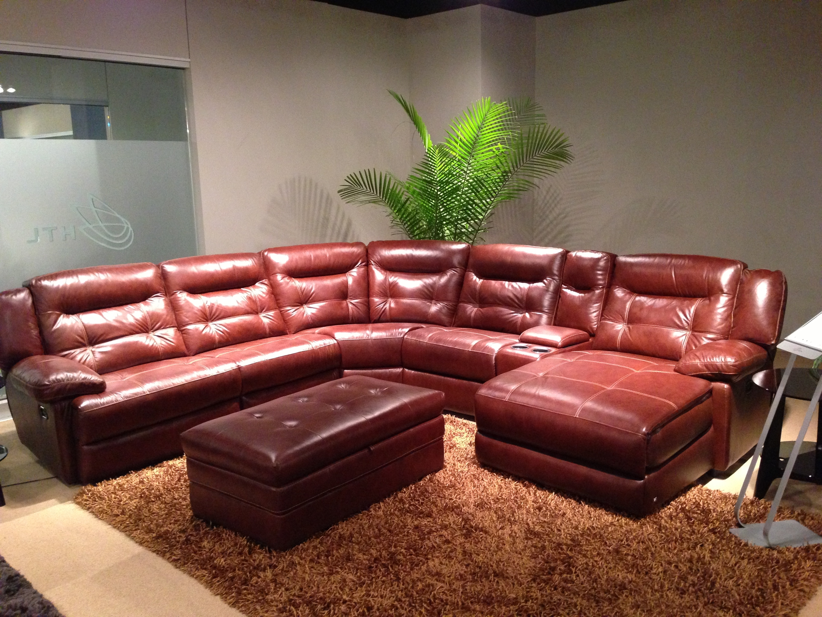 Durango Leather Sectional | | Creative Leather Furniture | Home In Red Leather Sectionals With Ottoman (Image 5 of 10)