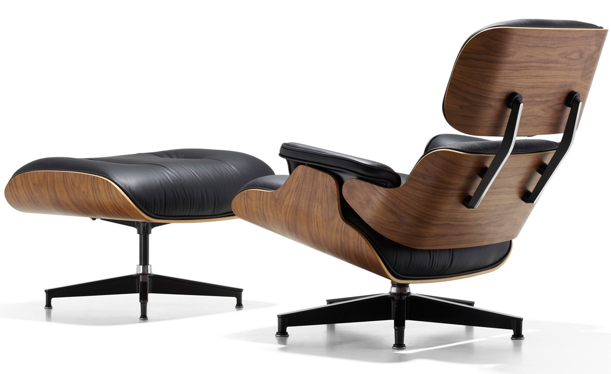 Eames® Lounge Chair & Ottoman – Hivemodern Throughout Chairs With Ottoman (View 10 of 10)