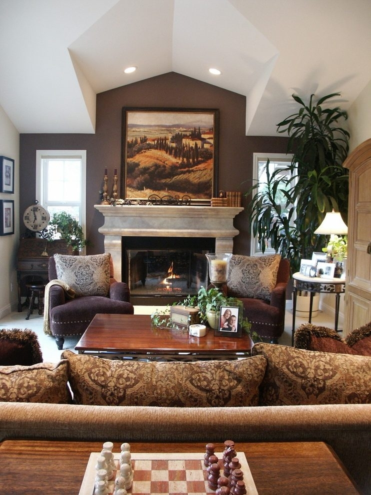 Earth Tone Accent Walls Living Room Contemporary With Ceiling Regarding Earth Tones Wall Accents (View 14 of 15)