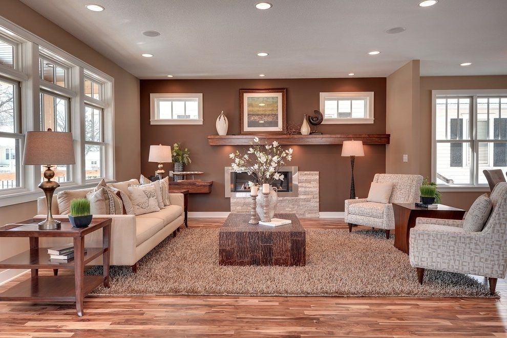 Earth Tone Accent Walls Living Room Transitional With Windows Inside Earth Tones Wall Accents (Image 10 of 15)