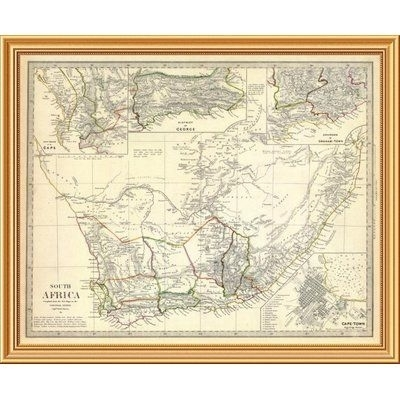 East Urban Home 'south Africa, 1834' Framed Graphic Art Print On Regarding South Africa Framed Art Prints (View 13 of 15)
