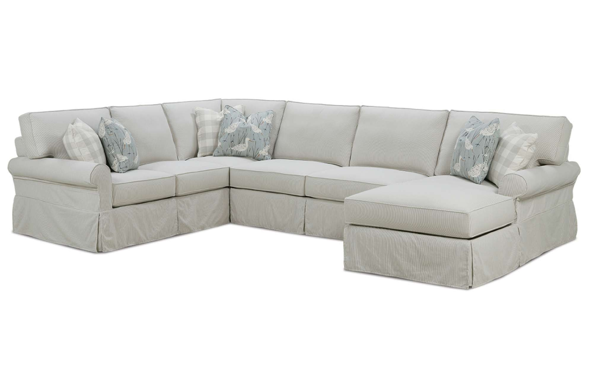 Easton Slipcover Sectionalrowe Furniture Pertaining To Furniture Row Sectional Sofas (View 6 of 10)