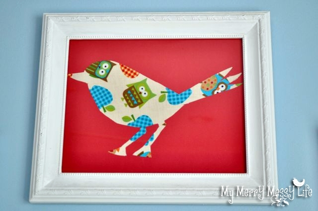 Easy Diy Nursery Wall Art {Free Tutorial} – My Merry Messy Life Pertaining To Baby Nursery Fabric Wall Art (Image 5 of 15)