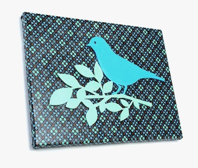 Easy Fabric Canvas Art With Mod Podge – Mod Podge Rocks Inside Fabric Bird Wall Art (Image 7 of 15)