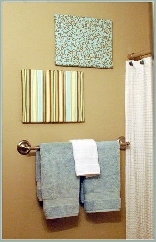 Easy Fabric Covered Canvas Wall Art With Regard To Homemade Wall Art With Fabric (View 11 of 15)