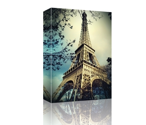 Eiffel Tower Paris, France Gallery Wrapped Canvas, Canvas Print Inside Eiffel Tower Canvas Wall Art (View 2 of 15)