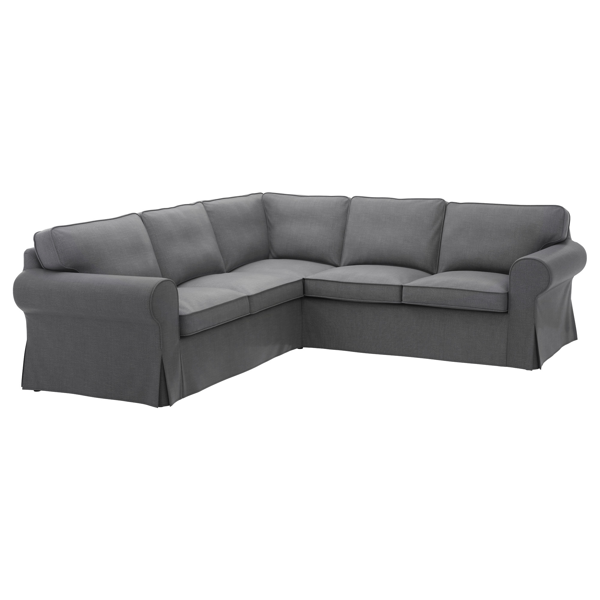 Ektorp Sectional, 4 Seat Corner – Nordvalla Dark Gray – Ikea With Regard To Ikea Sectional Sofa Beds (View 6 of 10)