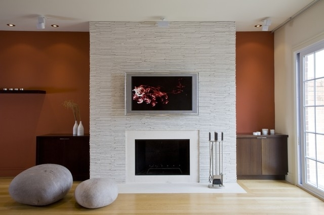 Electric Fireplace Wall Mount Living Room Contemporary With Accent Pertaining To Fireplace Wall Accents (View 10 of 15)