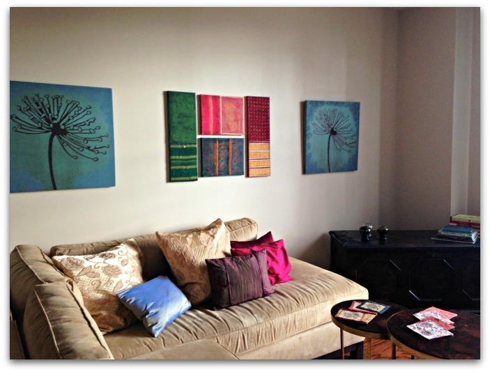 Elegance With Sari Wall Art That You Can Make Yourself – Saffluence With Next Canvas Wall Art (View 6 of 15)