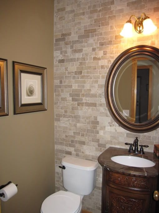 Elegant Bathroom Best 25 Accent Wall Ideas On Pinterest Toilet With Regard To Wall Accents Behind Toilet (Image 6 of 15)