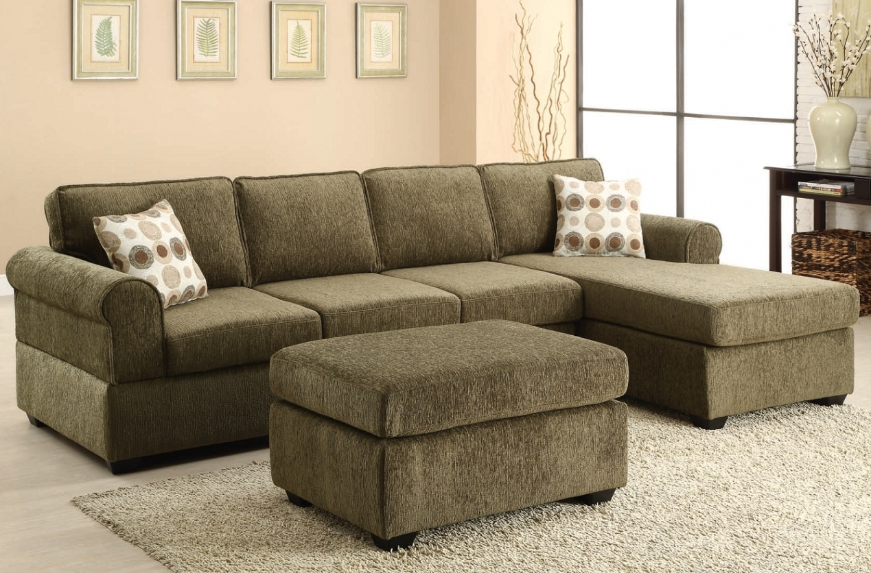 Elegant Olive Green Sectional – Buildsimplehome In Green Sectional Sofas With Chaise (Image 3 of 10)