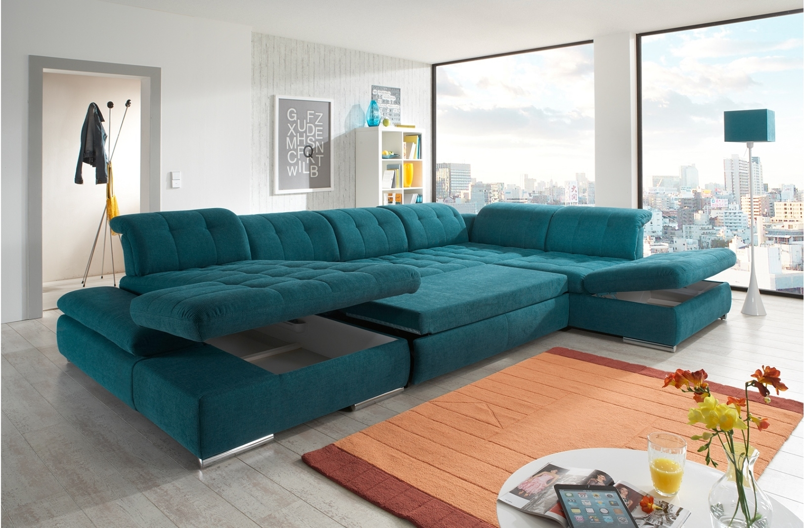 Elegant Teal Sectional Sofa 20 Sofa Table Ideas With Teal Sectional Sofa Regarding Guelph Sectional Sofas (Image 4 of 10)