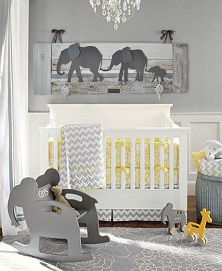 Elephant Nursery Decor. Unique Wall Art For A Baby's Room (View 10 of 15)