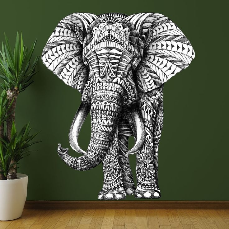 Elephant Wall Art Great Elephant Wall Decor – Wall Art And Wall Regarding Elephant Fabric Wall Art (Image 4 of 15)