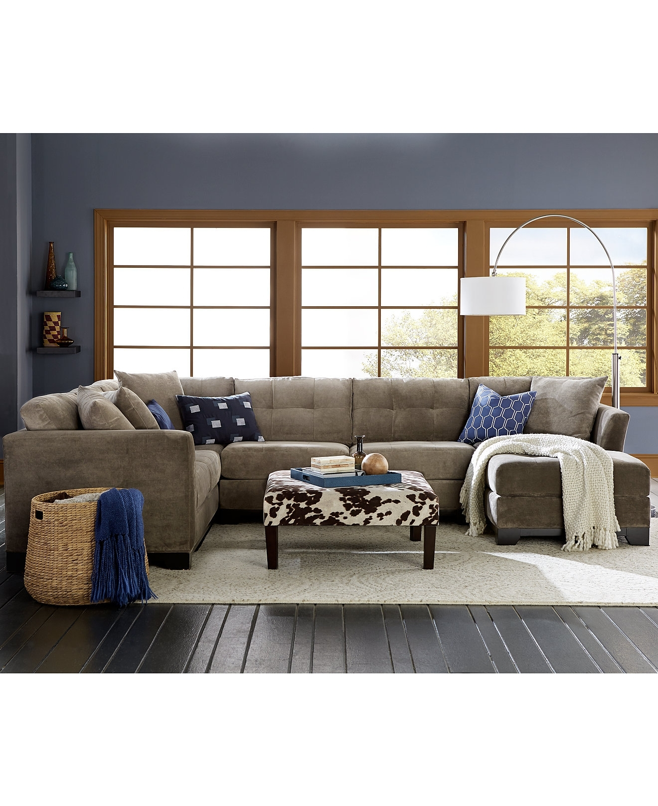 Elliot Fabric Sectional Collection, Created For Macy's | Sectional Intended For Macys Sectional Sofas (Image 3 of 10)