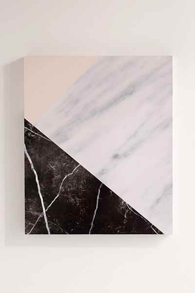Emanuela Carratoni For Deny Marble Collage Canvas Wall Art Regarding Fabric Wall Art Urban Outfitters (Image 3 of 15)