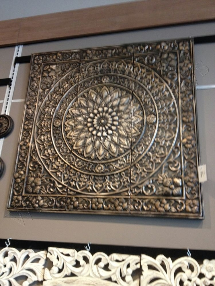 Embossed Medallion Metal Wall Sculpture Brown/black Square Tuscan Regarding Metal Wall Accents (View 15 of 15)