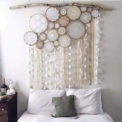 Embroidery Hoop Projects You Can't Resist! | Backdrops, Streamers With Dreamcatcher Fabric Wall Art (Image 8 of 15)
