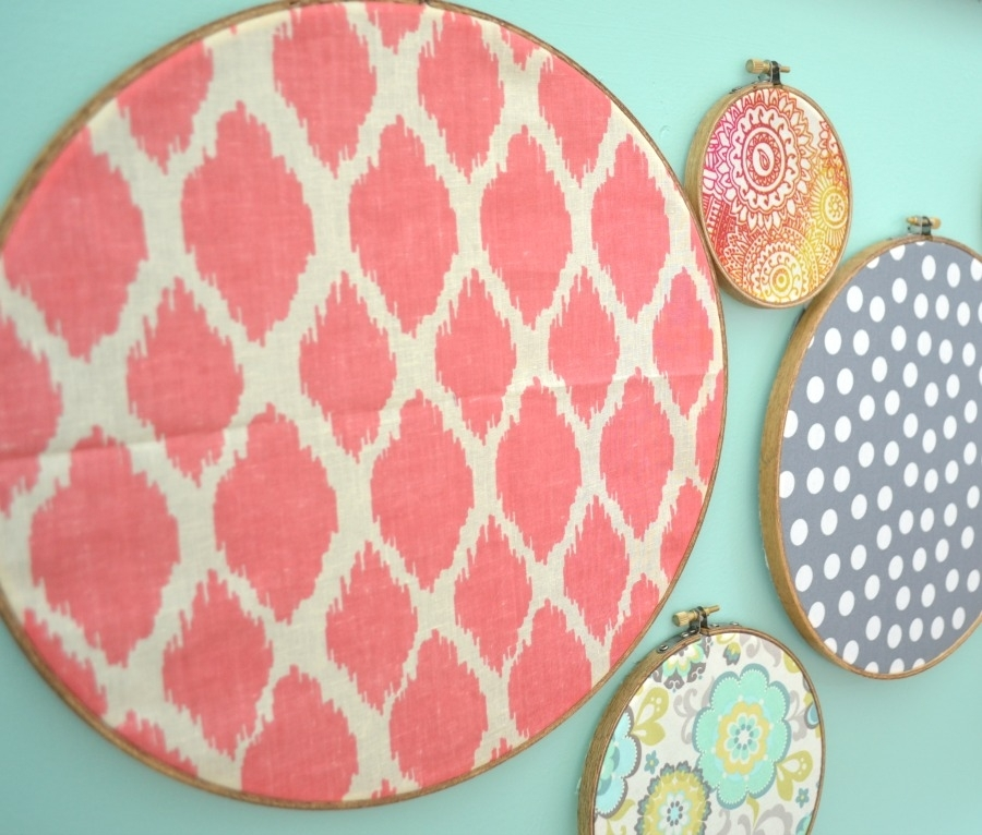 Embroidery Hoop Wall Art – I Am A Homemaker Throughout Fabric Circle Wall Art (View 11 of 15)