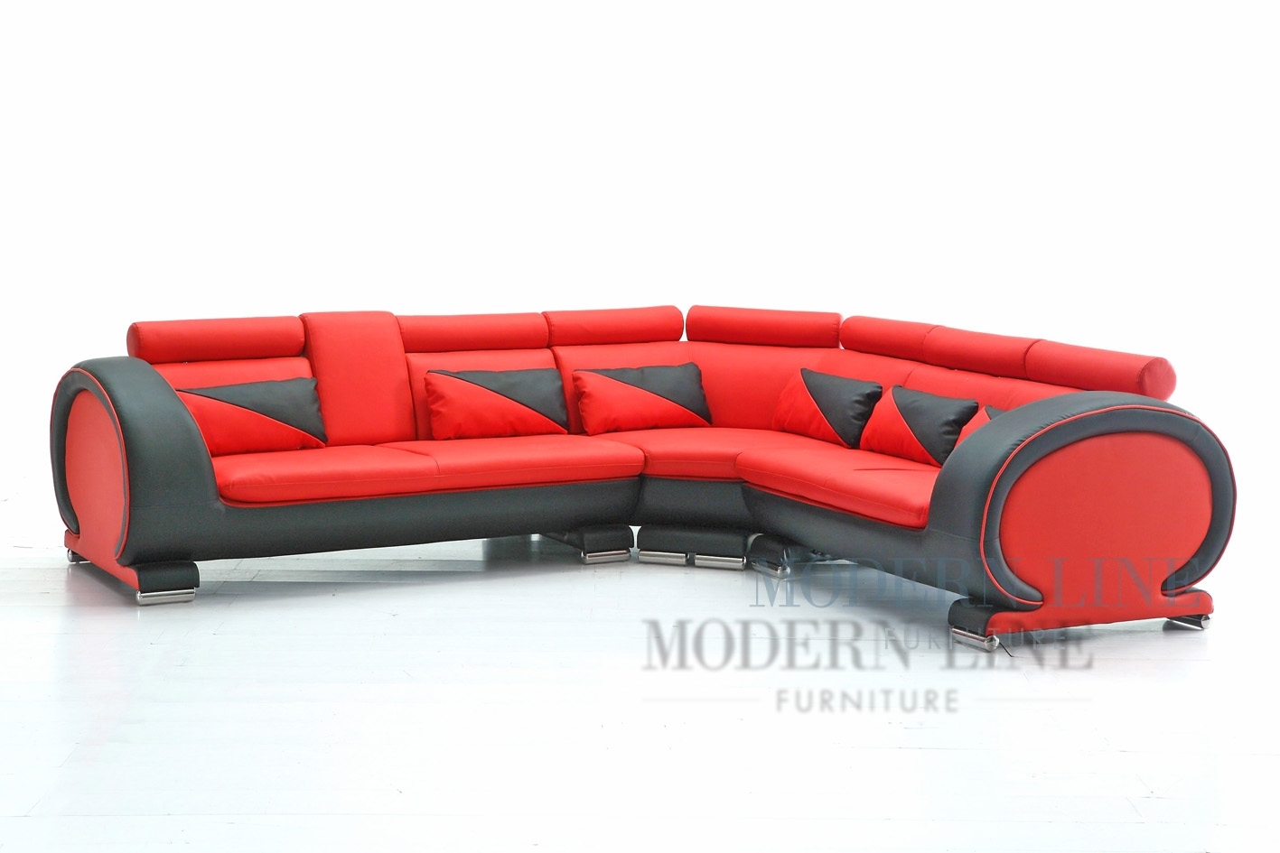 Emejing Red And Black Leather Sectional Gallery – Liltigertoo For Red Black Sectional Sofas (View 5 of 10)