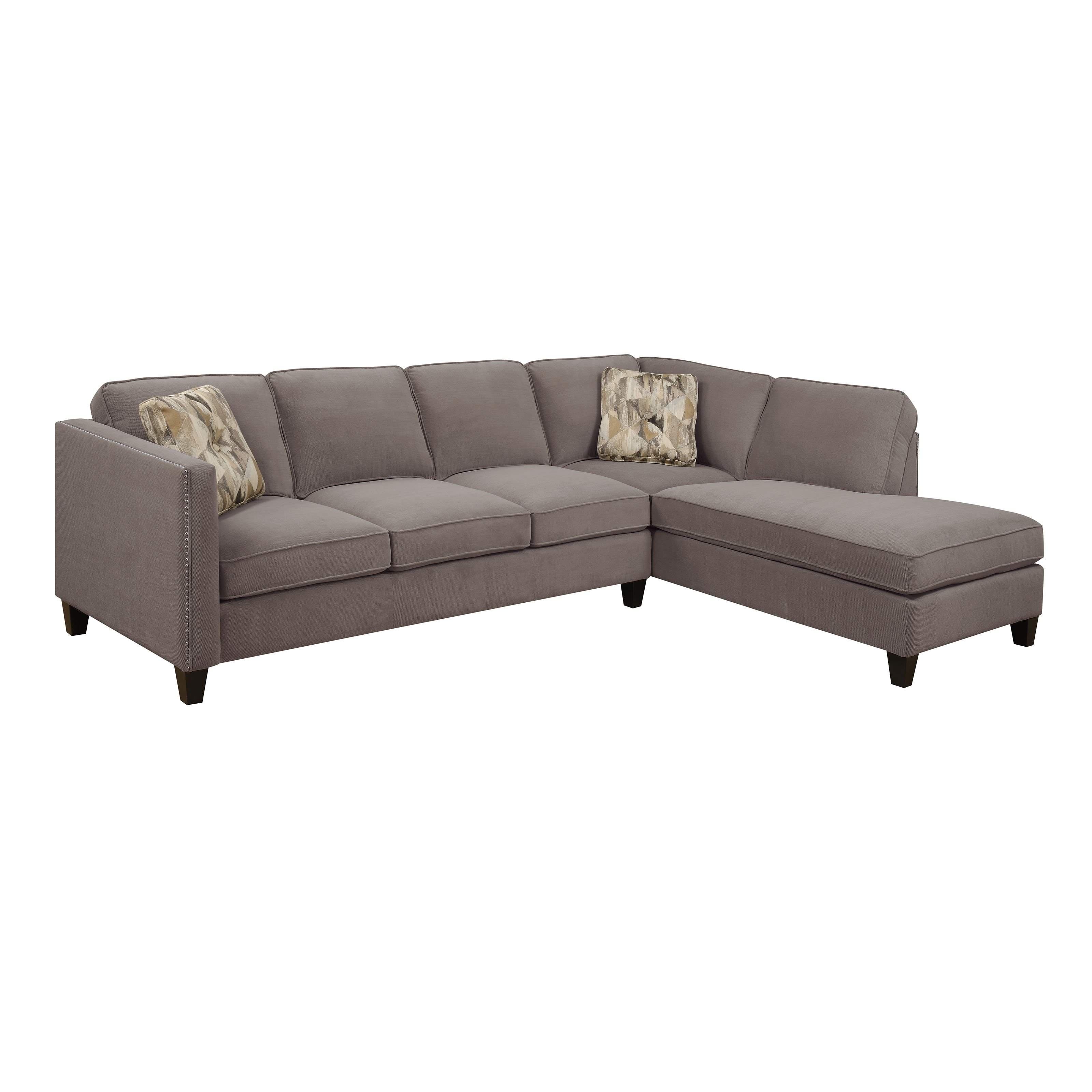 Emerald Home Focus 2 Piece Sectional Sofa With Chaise   Hayneedle Within Dufresne Sectional Sofas (Image 9 of 10)