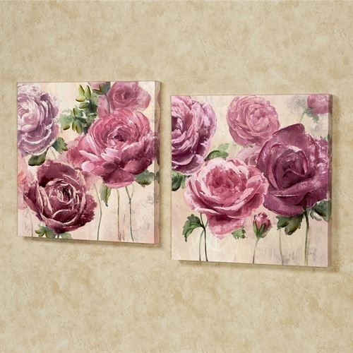 Emma Rose Floral Canvas Wall Art Set Throughout Roses Canvas Wall Art (View 8 of 15)